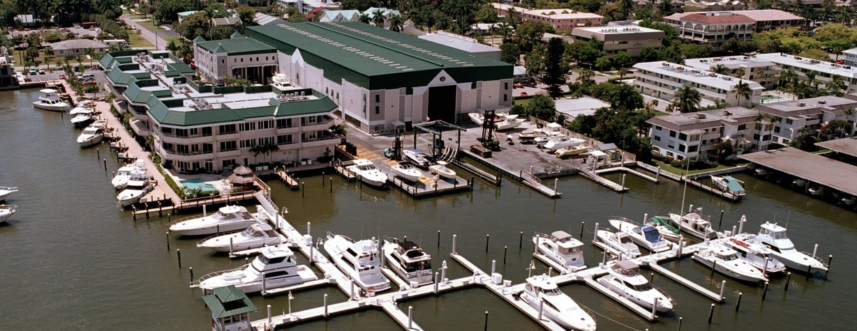 Naples Yacht Brokerage aerial view
